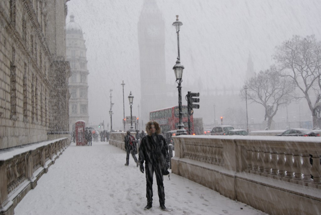Snowy winter in London